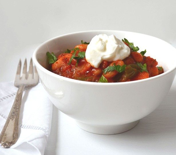lebanese stew with greek yogurt