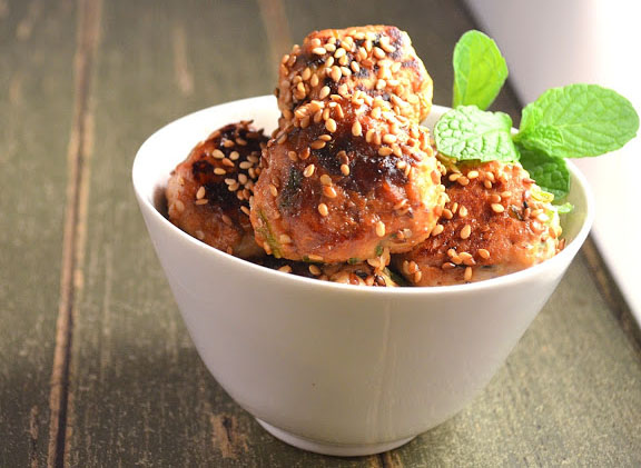 sesame chicken meatballs