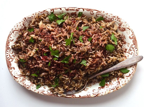 rice and lentils with spices