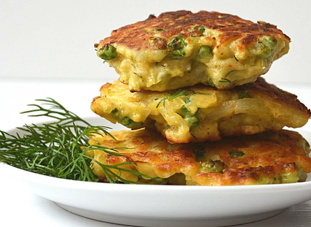 potato leek cakes