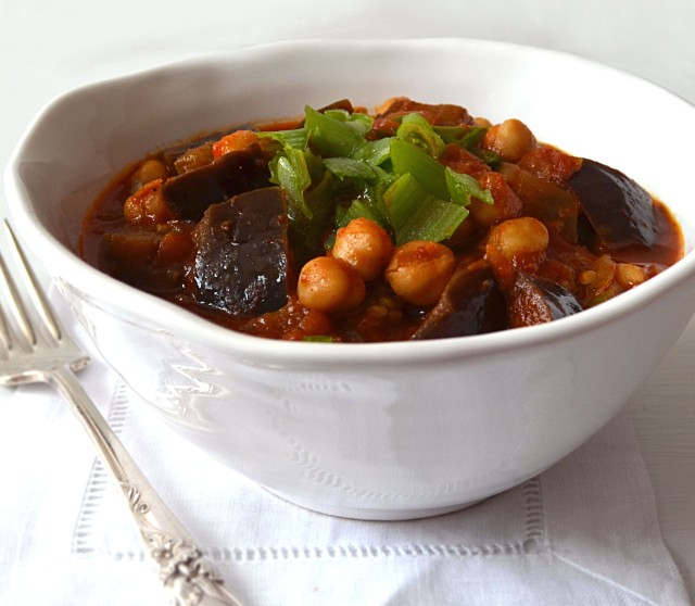 Morrocan Eggplant Stew with chickpeas