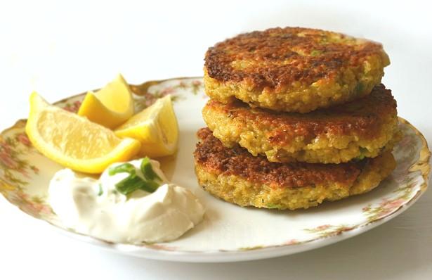 scallion lemon cakes