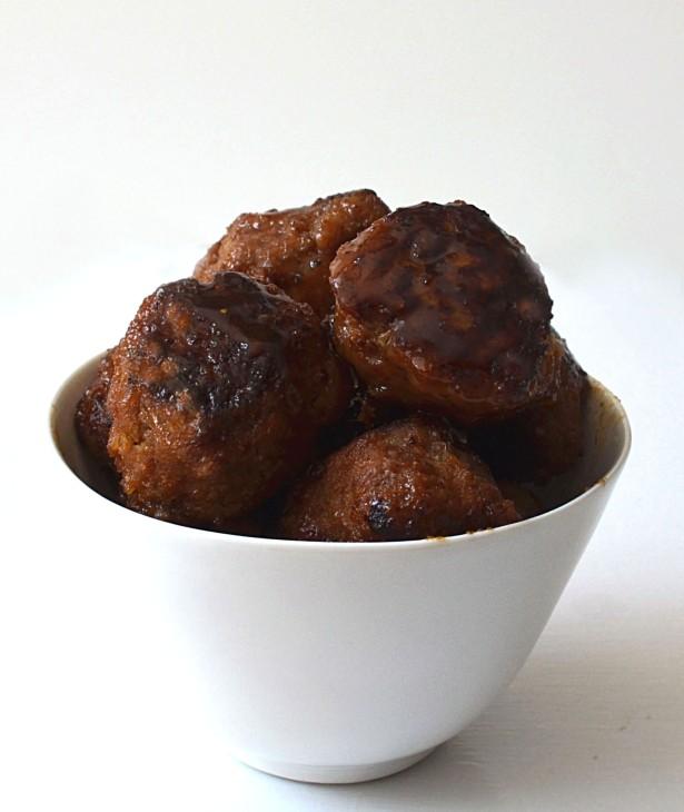 spicy honey meatballs